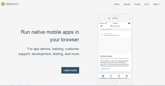 Appetize.io - Run native mobile apps in your browser