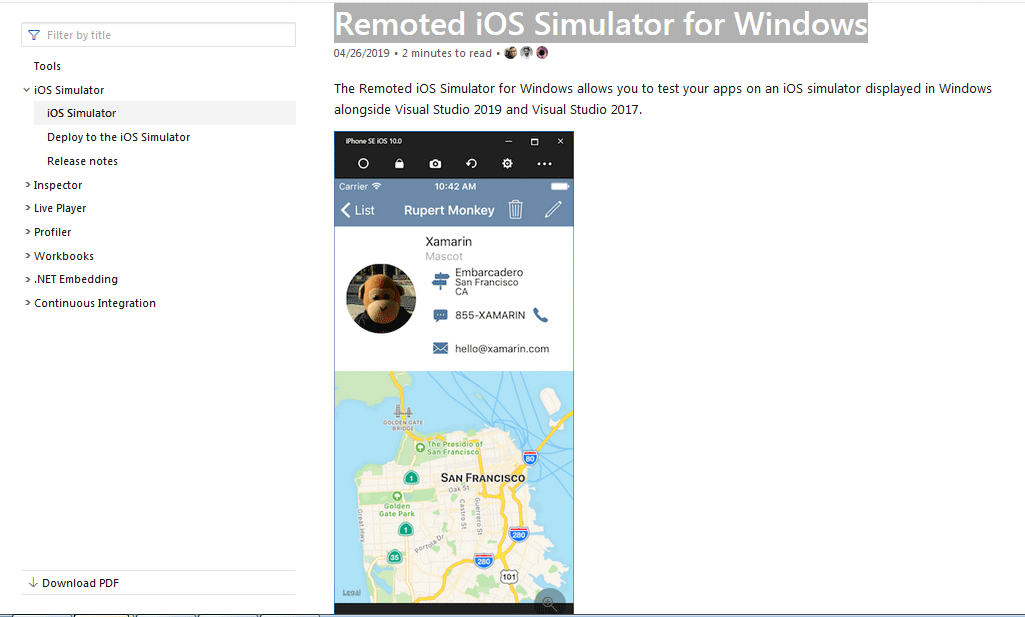 Remoted iOS Simulator for Windows