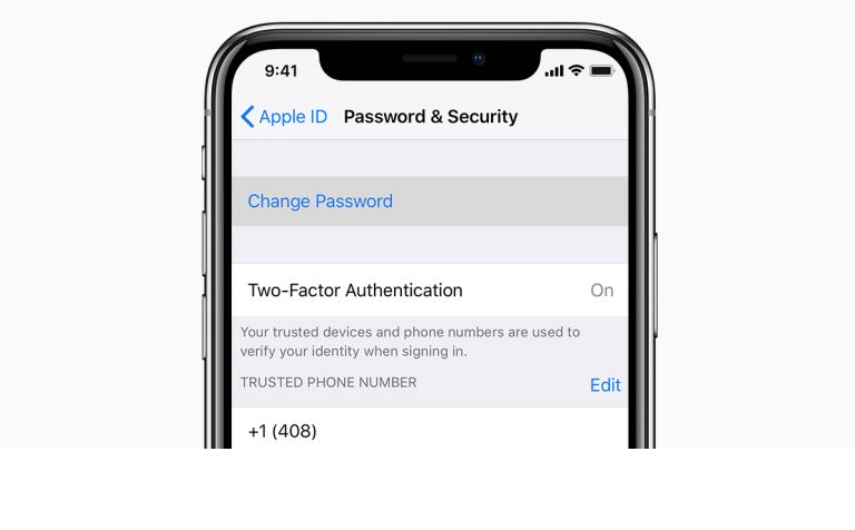 ios12 iphone x settings apple id password and security change password social card