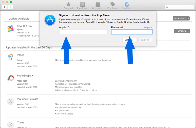 Click on it and log in to Apple ID. And if you don't have, then you can register for it