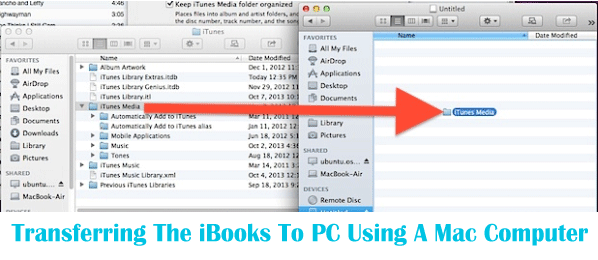 Transferring The iBooks To PC Using A Mac Computer