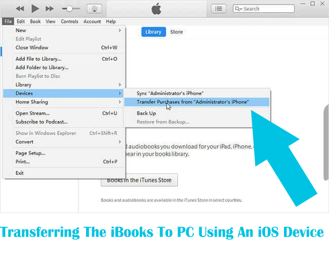 Transferring The iBooks To PC Using An iOS Device