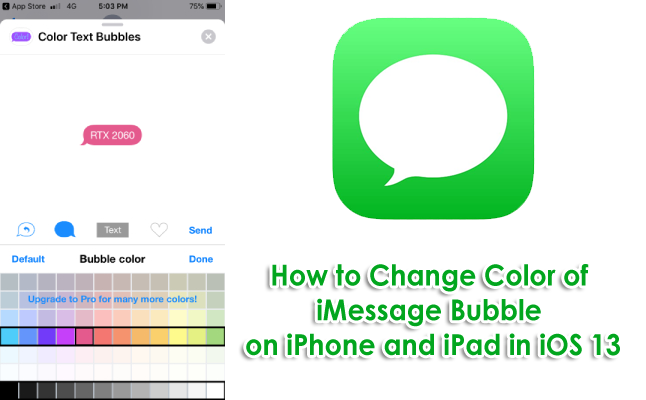 How to Change Color of iMessage Bubble on iPhone and iPad in iOS 13