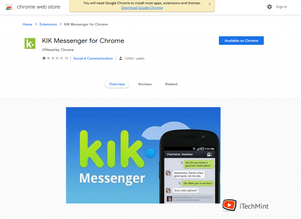 KIK Messenger for Chrome